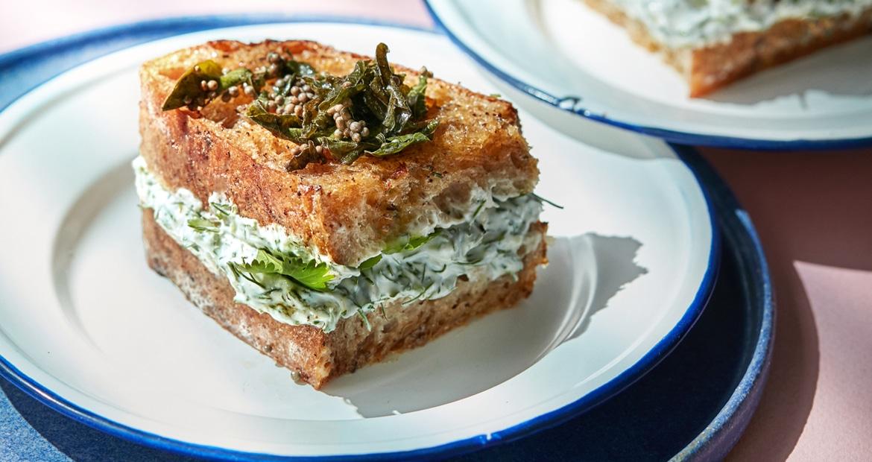 Sandwich: yoghurt og urter